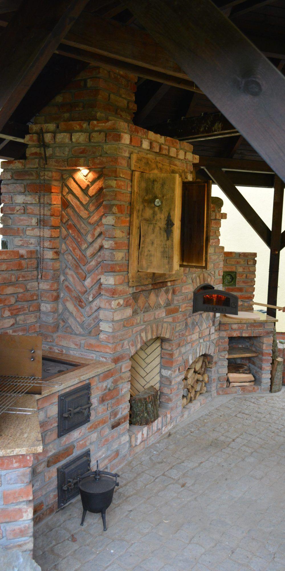 Kuchnie Ze Starej Cegly Kuchnie Letnie Ogrody Zimowe Grille Piece Kuchnia W Ogrodzie Outdoor Kitchen Outdoor Kitchen Decor Fireplace Cooking