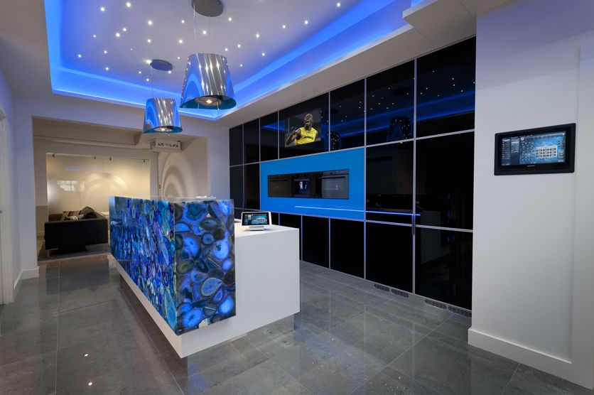 Kitchen Design Brisbane Incorparating Innovative LED Lighting Controlled By Ipad App