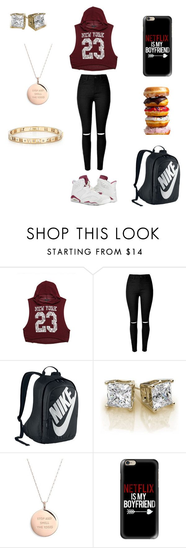"""""""☺️ Netflix is my boyfriend """" by prettymissmai ❤ liked on Polyvore featuring Forever 21, NIKE, Kate Spade, Casetify, Tiffany & Co., women's clothing, women, female, woman and misses"""