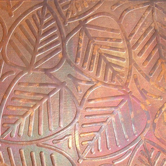 Textured Copper Sheet Metal Leaves Patina Copper Sheet Etsy Copper Sheets Rose Gold Wallpaper Rose Gold Aesthetic