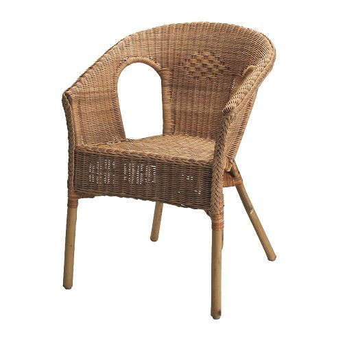 AGEN Armchair  rattan  bamboo   Vacation Ideas   Pinterest     AGEN Chair IKEA Handwoven  each piece of furniture is unique  Stackable  chair  saves space when not in use