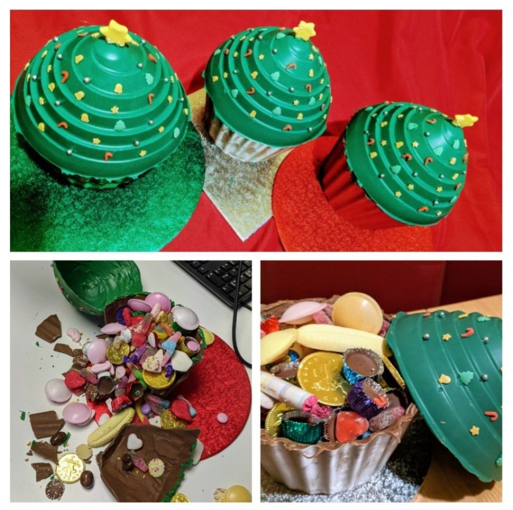 Photo of Chocolate Christmas tree pinata