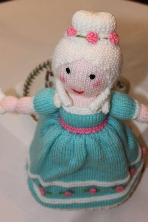Cinderella Princess Topsy Turvy Doll Knitted Doll Handmade