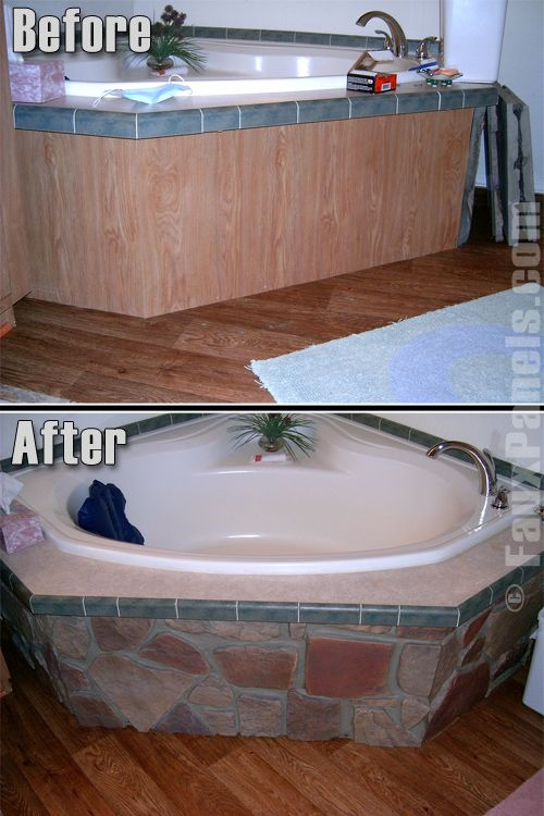 Bathroom Tub Makeovers actualize your bathroom makeover ideas with artificial stone