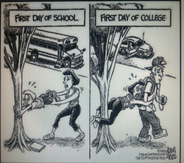 First Day Of School Vs First Day Of College Make Me Laugh