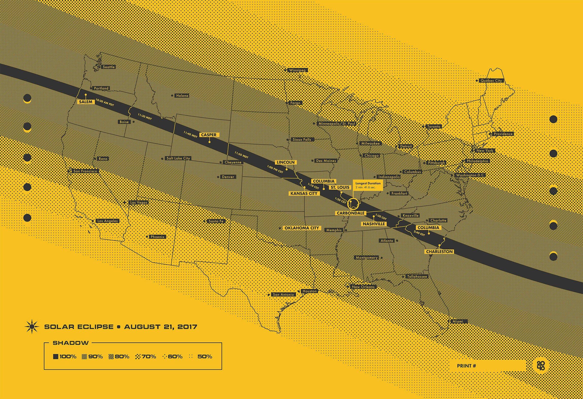 2017 Solar Eclipse Map | Solar eclipse map, Solar eclipse, Map