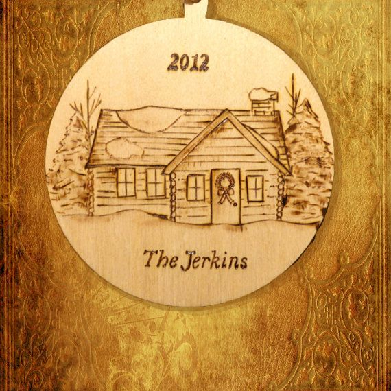Sugar Shack Ornament with Custom Engraved Name of Your Choice