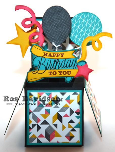 Card In A Box Birthday Cards Pop Up Boxes Pinterest