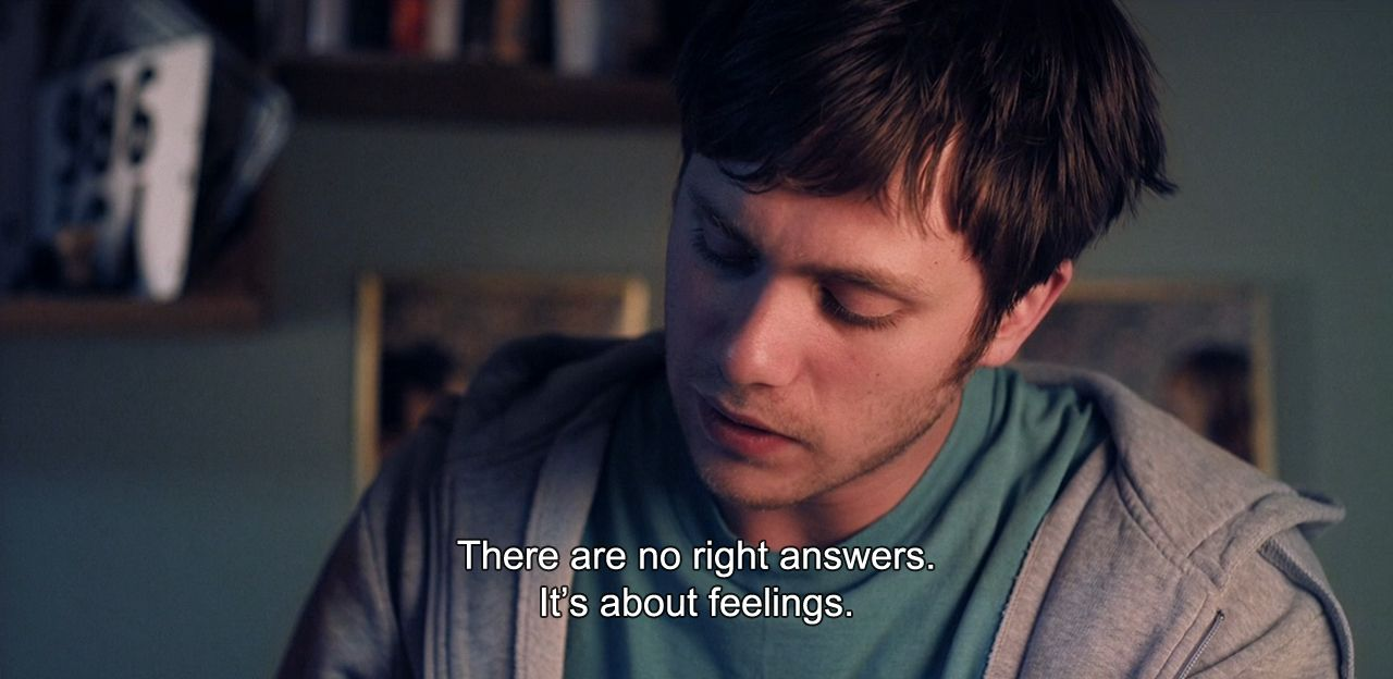 "― Simple Simon (2010)""There are no right answers. It's about feelings."""