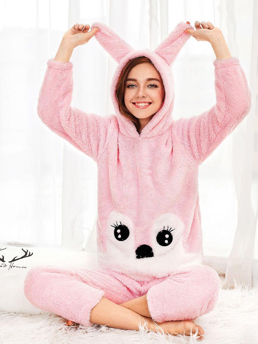 4f02143b90 Rabbit Hooded Pajama Set