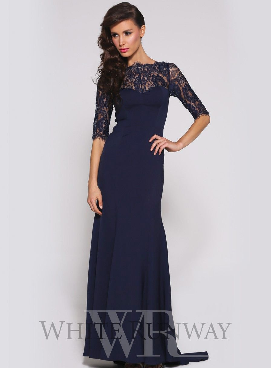 Affordable floor length chiffon navy bridesmaid dress champagne robin dress by luxe elle zeitoune an elegant full length gown by elle zeitoune bridesmaid dress sleeveswinter ombrellifo Images