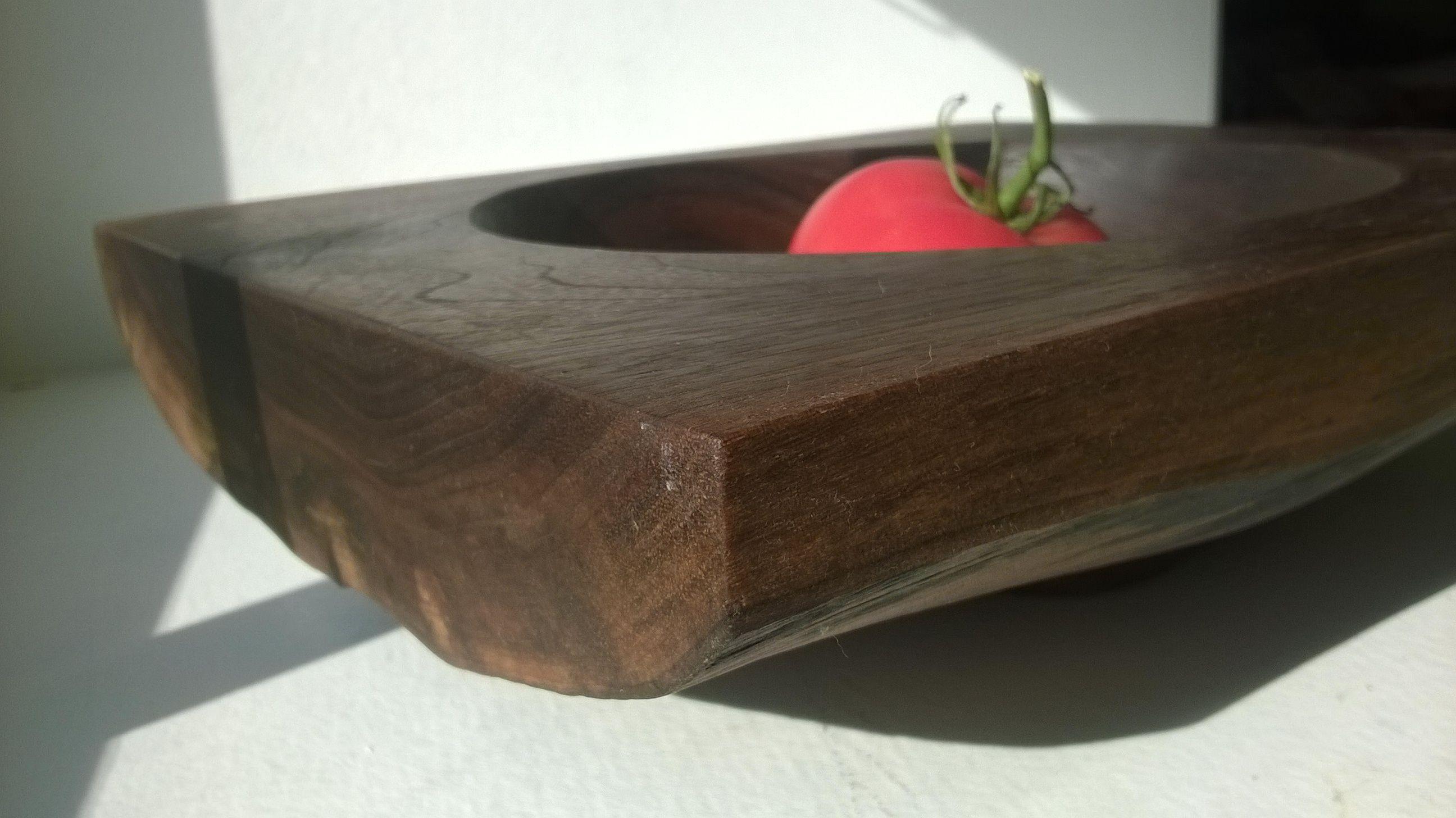 small walnut, natural backside
