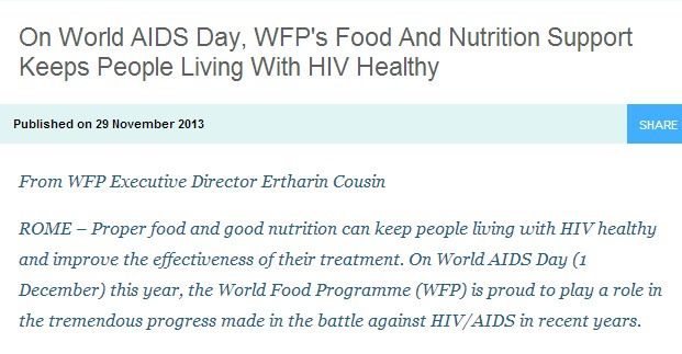 On World AIDS Day, WFP's Food And Nutrition Support Keeps People Living With HIV Healthy