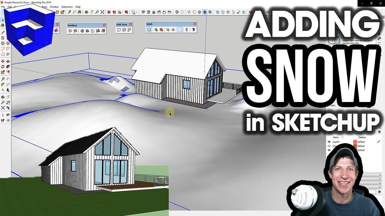 In This Sketchup Modeling Lesson Learn To Add Snow To Your
