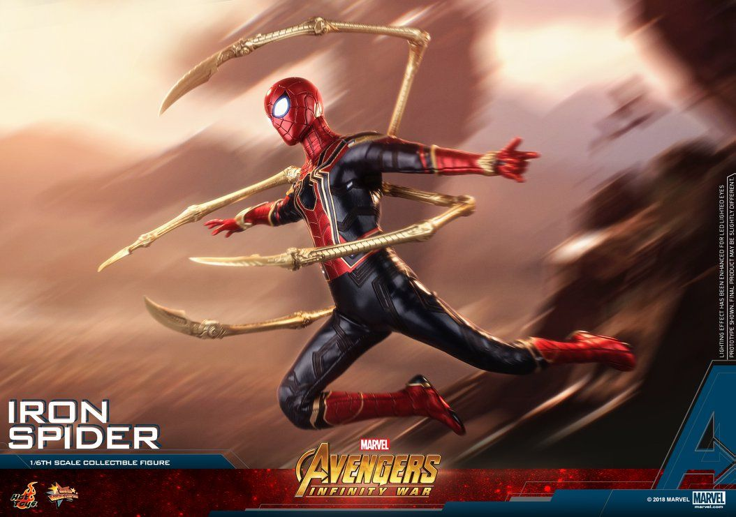 Hot Toys Reveals Their Incredibly Cool Avengers Infinity War Iron Spider Action Figure Geektyrant Iron Spider Hot Toys Marvel Avengers Toys