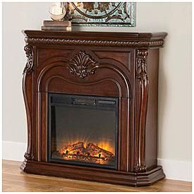 42 Corner Cherry Electric Fireplace Big Lots Fireplace