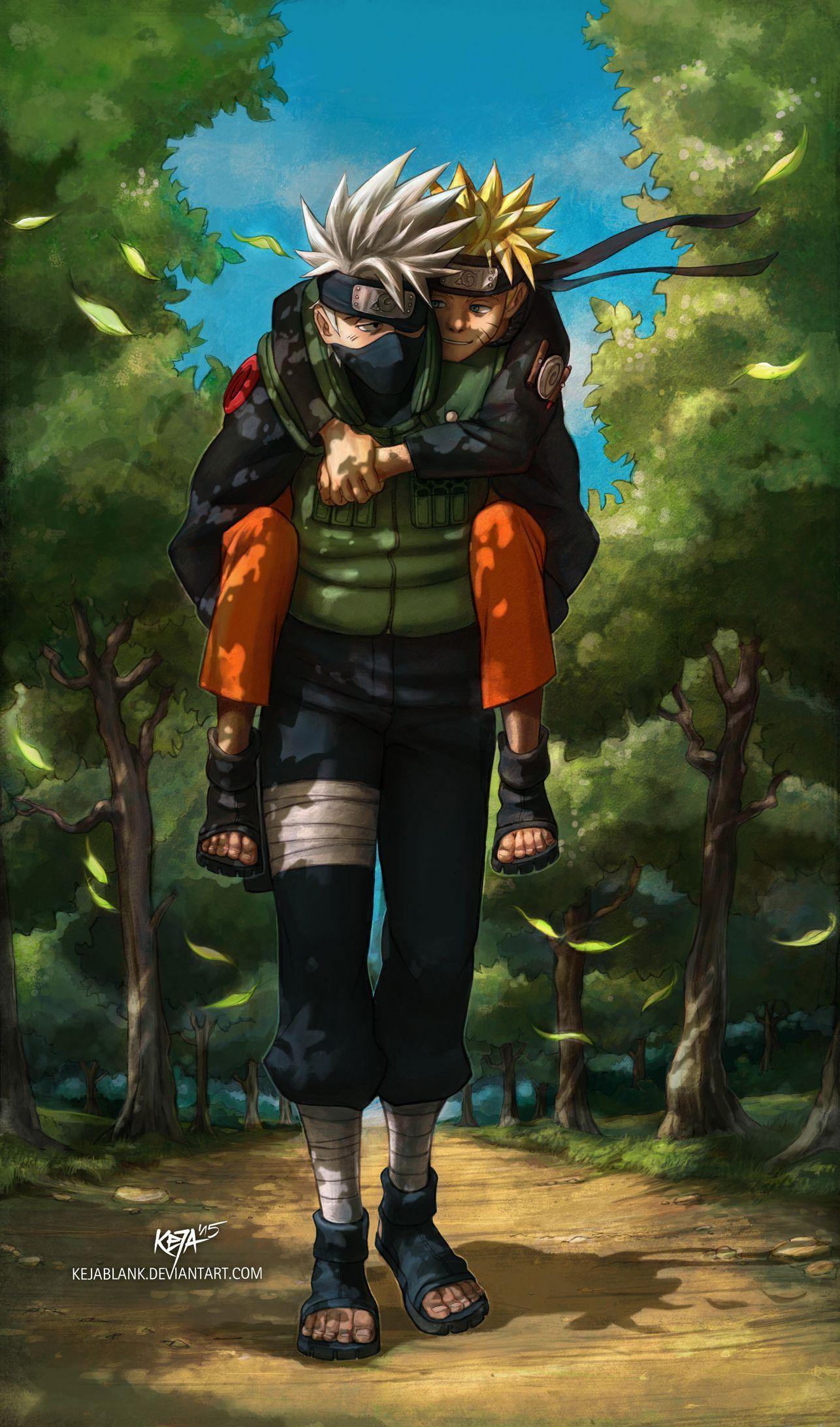 /Kakashi Carries Naruto/#1890678   Fullsize Image (1286x2185)   Naruto shippuden anime, Naruto ...