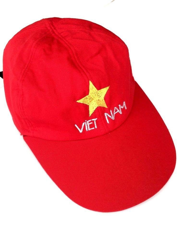 Vietnam flag cap military memento yellow star baseball cap long bill  adjustable 7675265f647