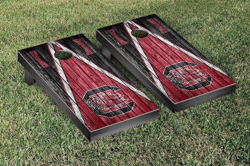 South Carolina Gamecocks Reclaimed Wood w/ Triangle Bag Toss Game Set