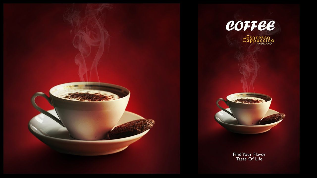 Poster design using photoshop cs5 - Design A Minimalist Coffee Menu Poster In Photoshop