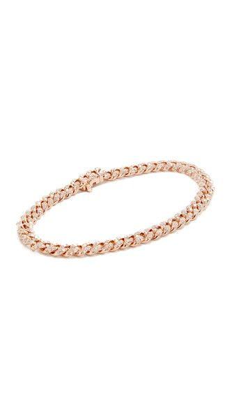 18k Rose Gold Mini Pave Link Bracelet Bracelets Rose gold jewelry