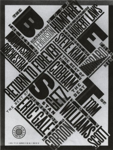 """The Best…"" Poster by Paula Scher for CBS Records"