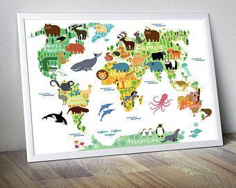 Nursery world map nursery map map for kids world map for kids kids ...
