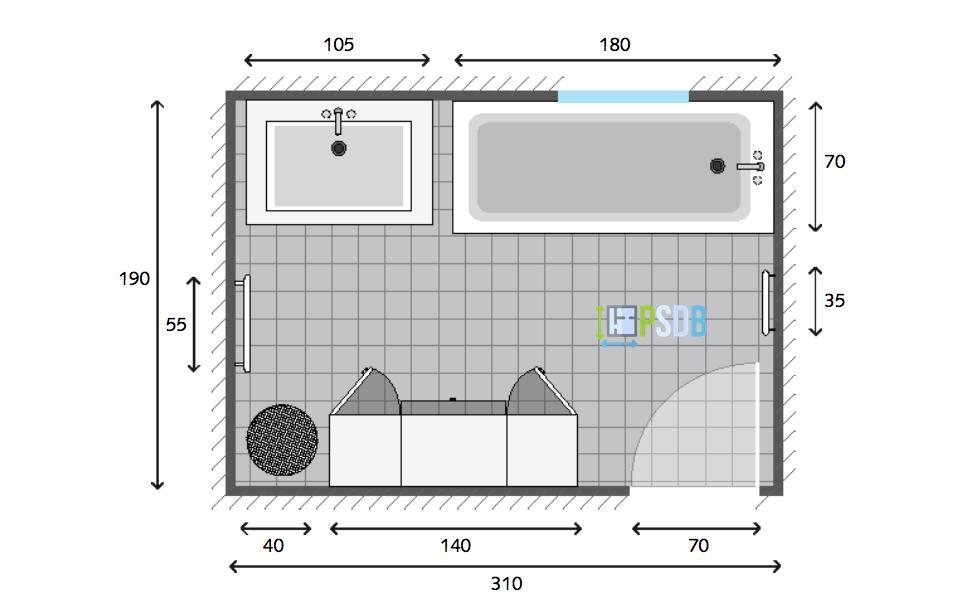 Plan De Salle De Bain De 5 9m2 En 2019 Salle De Bain