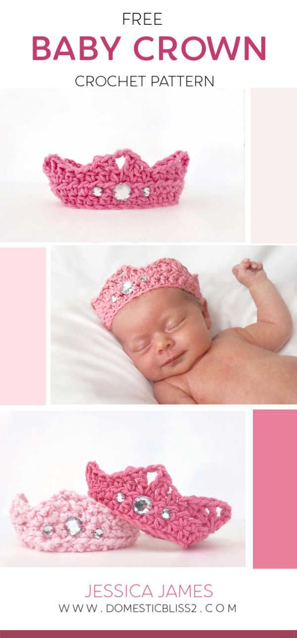 Free Newborn Crown Crochet Pattern - db2 #crownscrocheted