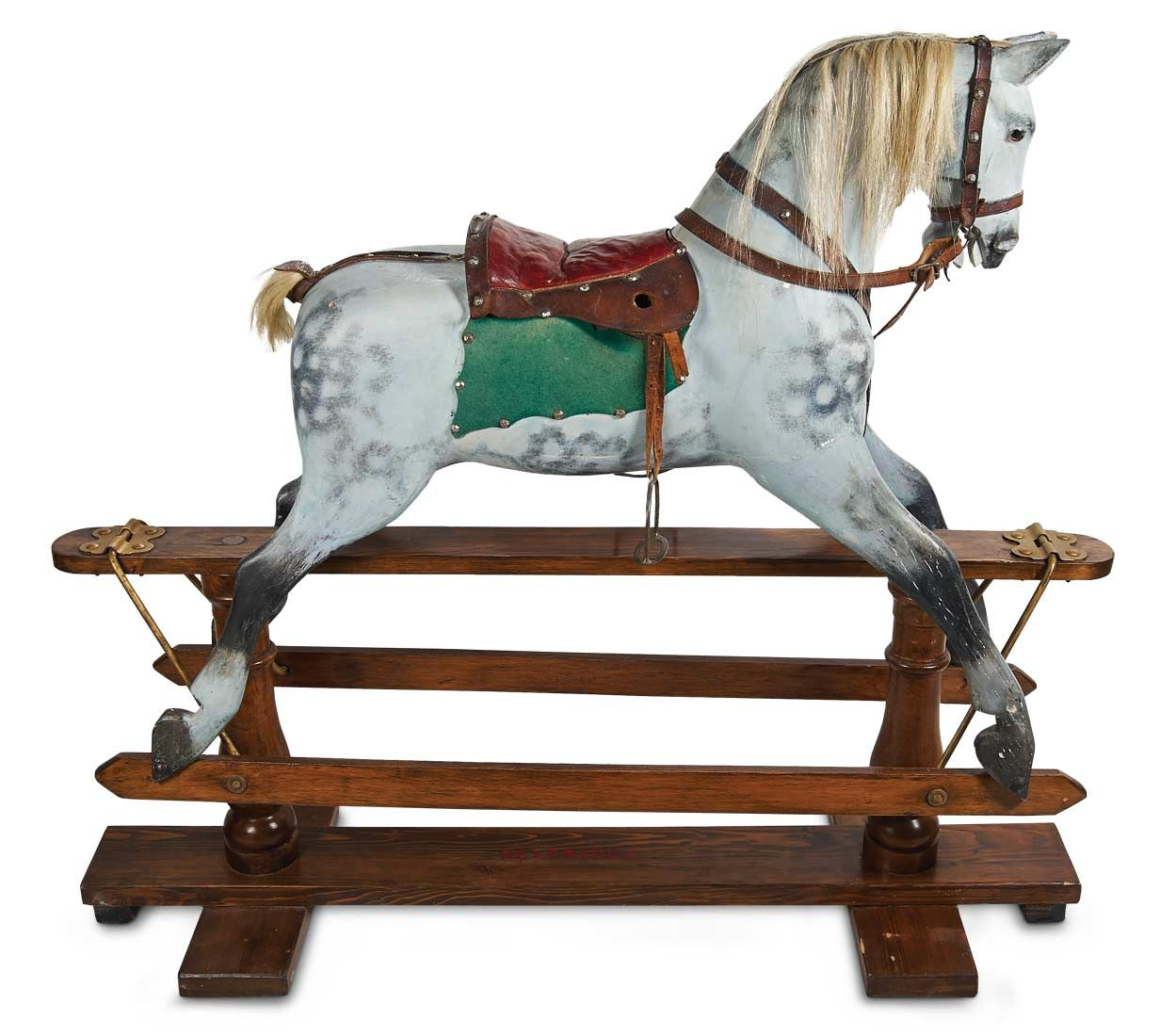 horseshoe rocking chair chairs on wheels for elderly luxury english wooden horse mid 1800 39s http