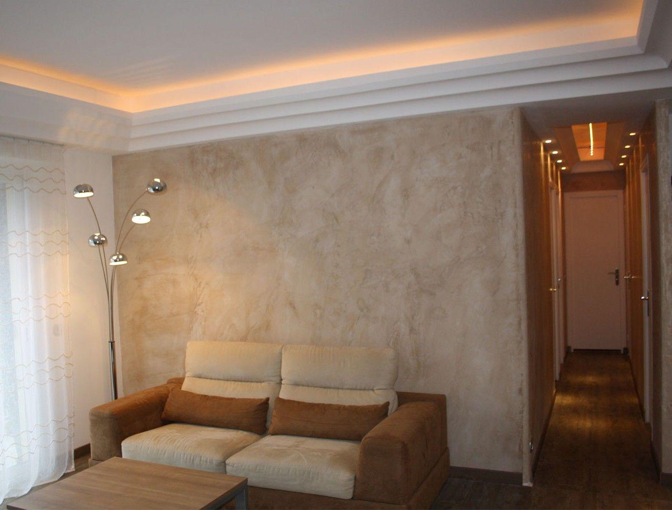 stucco marmorino, ocker aus chypre , appartment nizza. | stucco