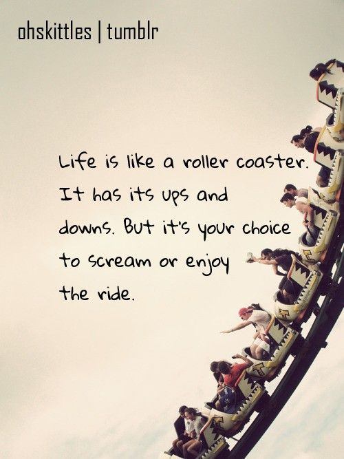 sometimes its nice to scream and enjoy the ride at the same time
