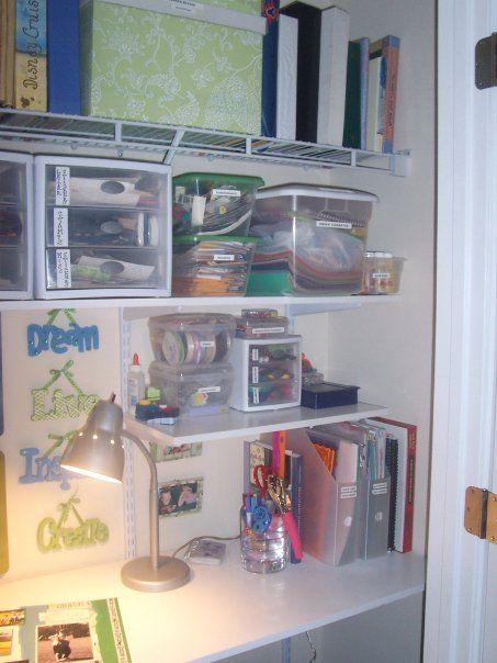 scrapbook closet organization ideas scrapbooking space i decided to turn our spare bedroom closet