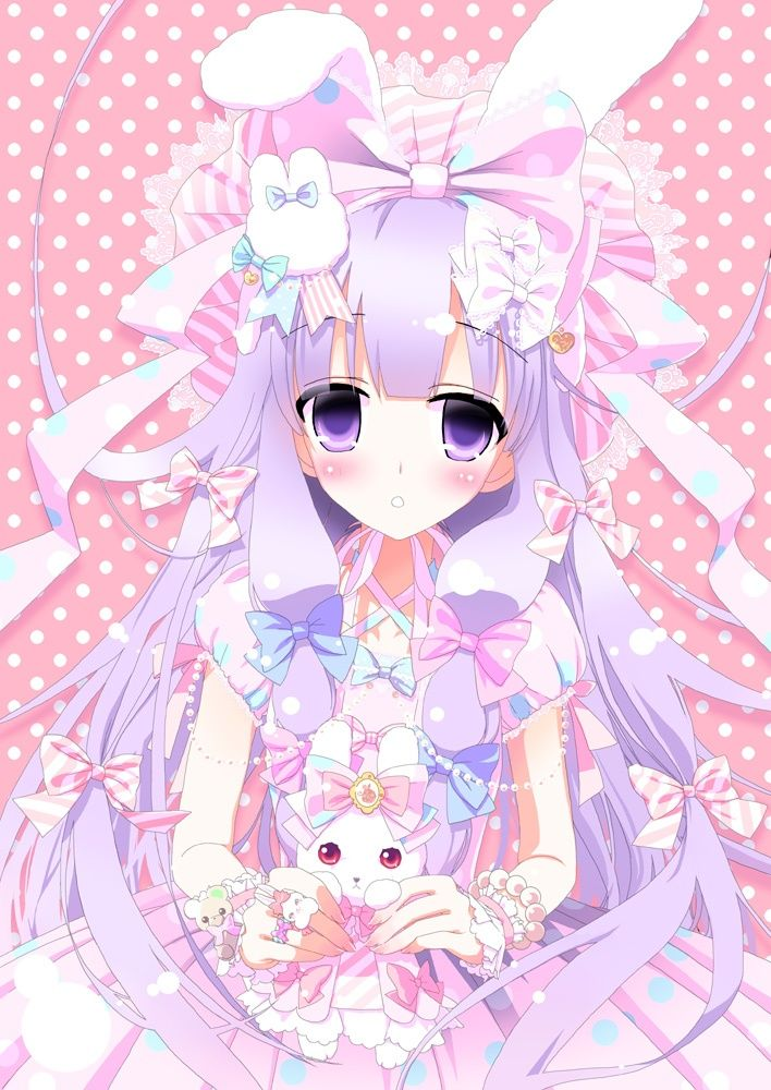 anime art sweet lolita. . .pastel
