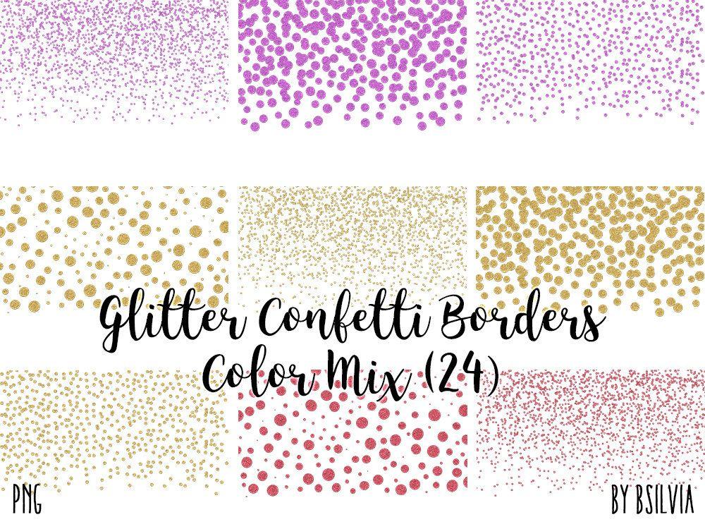 Glitter Confetti Borders Pack Silver Glitter Confetti Png Etsy Glitter Confetti Rose Gold Glitter Confetti Pink Glitter Confetti