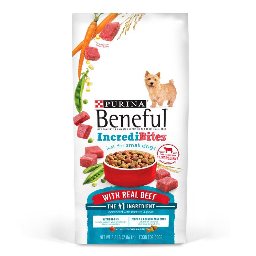 Purina Beneful Incredibites With Real Beef Dry Dog Food 3 5lbs