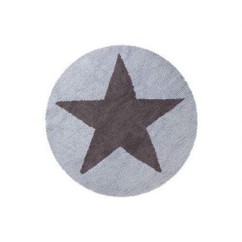 vloerkleed rond ster omkeerbaar blauw? de leukste katoenen, Deco ideeën