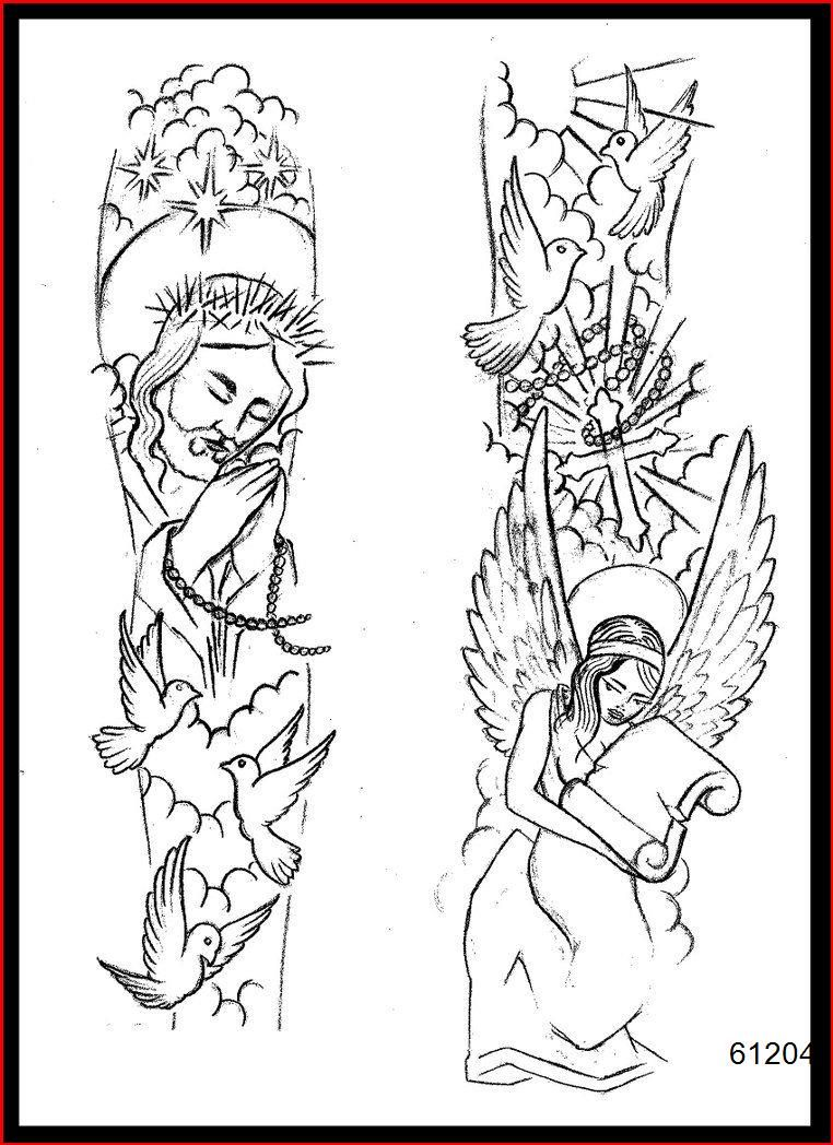Religious Half Sleeve Tattoo Drawings : religious, sleeve, tattoo, drawings, Silver, Necklace, Personalized, Sleeve, Tattoos, Drawings,, Tattoo, Designs,, Forearm