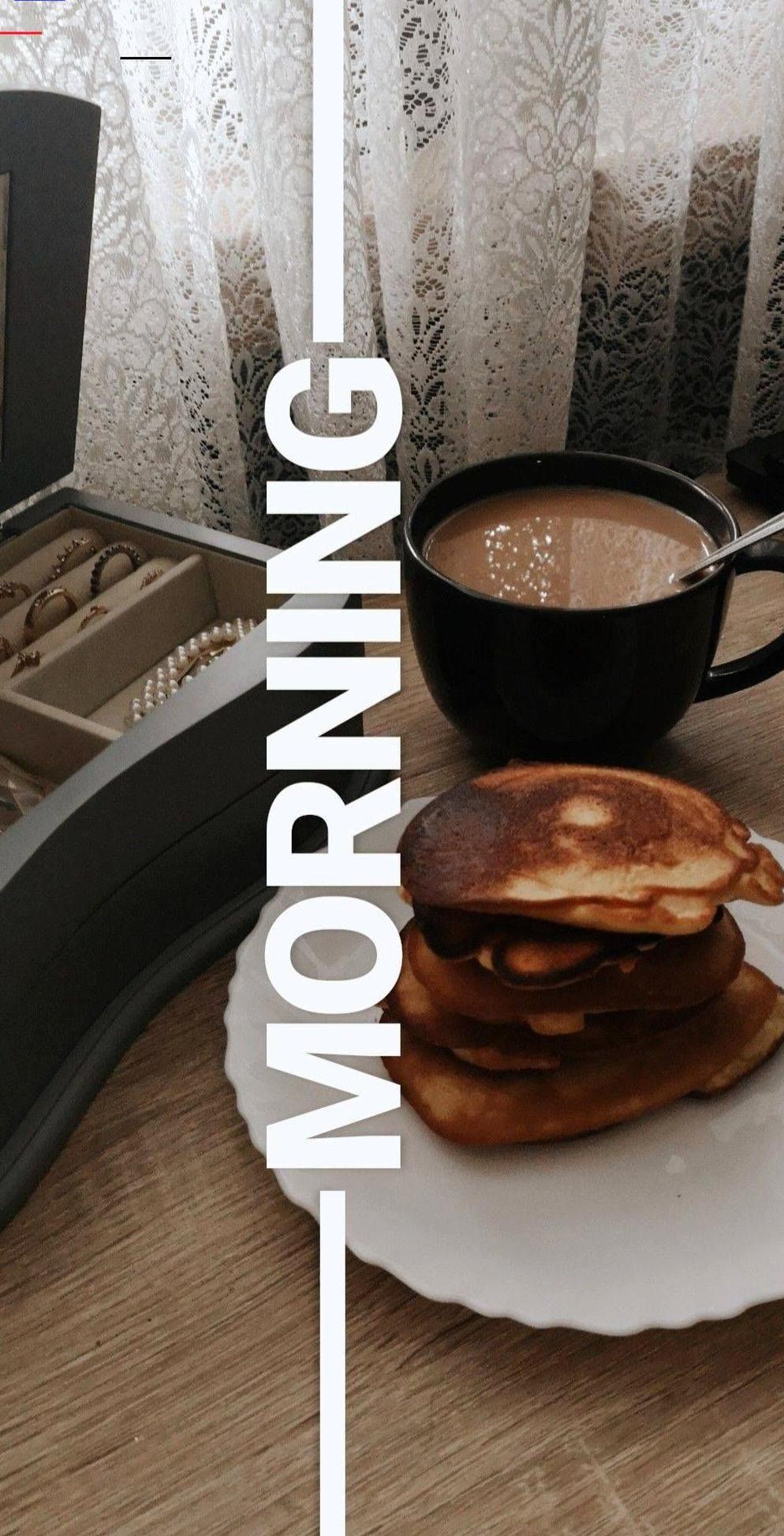 morning breakfast instastory diy pancakes coffee time
