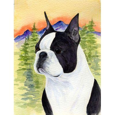 Carolineu0027s Treasures Boston Terrier 2 Sided Garden Flag