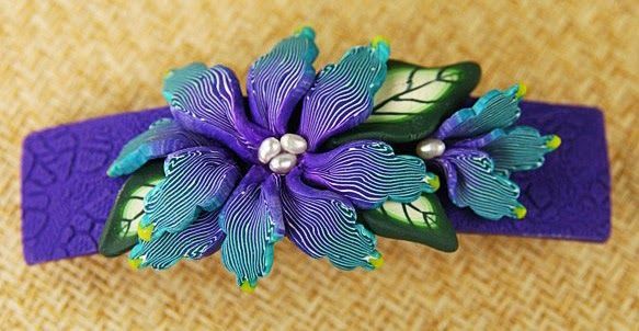 For some reason, I've never tried making polymer barrettes. A while ago, I found some really nice barrette bases made in France, and purcha...