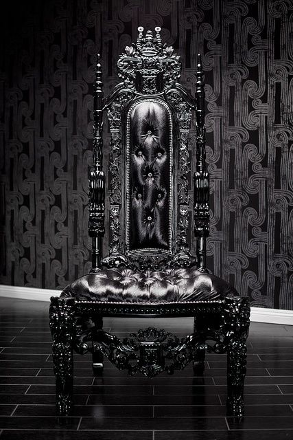 Gothic and regal high-back chair | Darque Decor ...