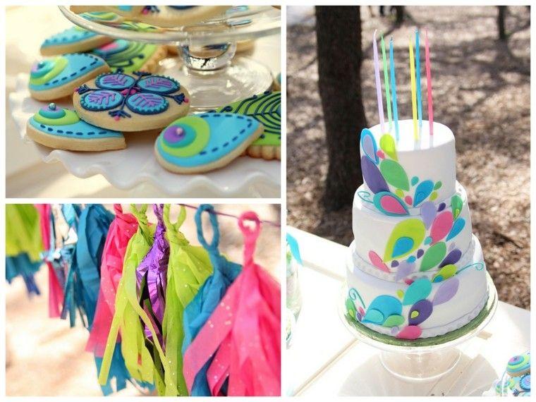 Pastel y decoraciones para fiesta de cumplea os al aire for Decoraciones de jardines
