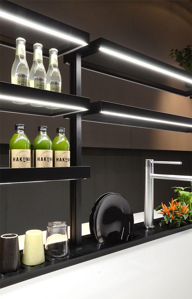 mensole cucina per canale attrezzato / Domusomnia Easyshelf kitchen ...