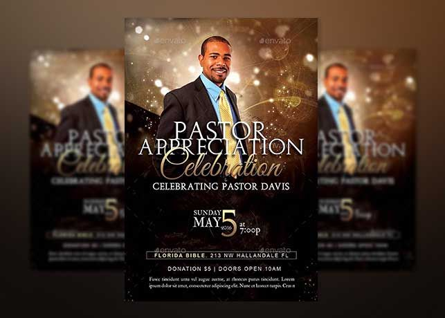 Starlight Pastor Anniversary Vol  Flyer Template Is Great For