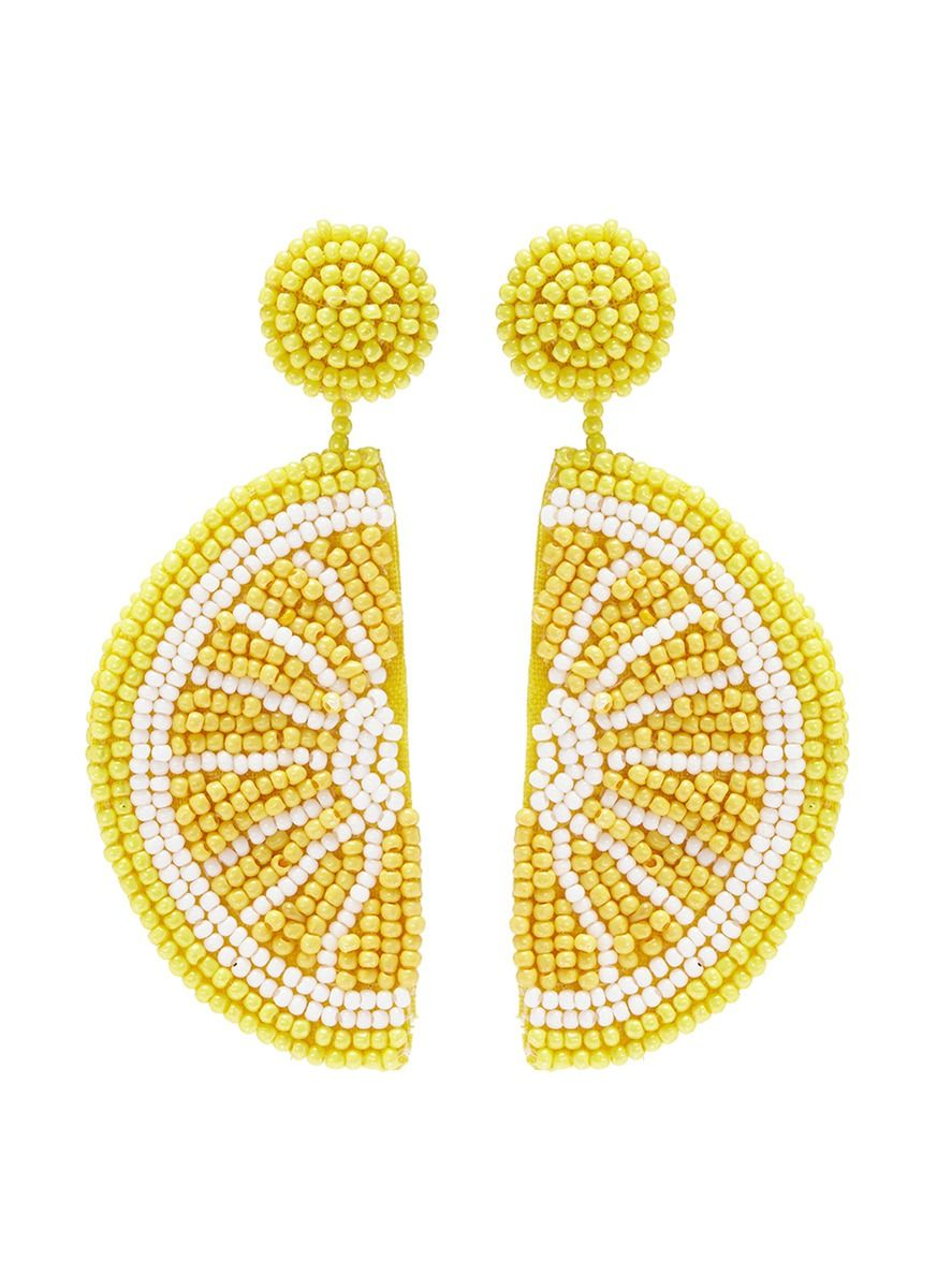 Kenneth Jay Lane Kenneth Jay Lane Woman Gold-tone Beaded Clip Earrings Brick Size fwBwRgRM