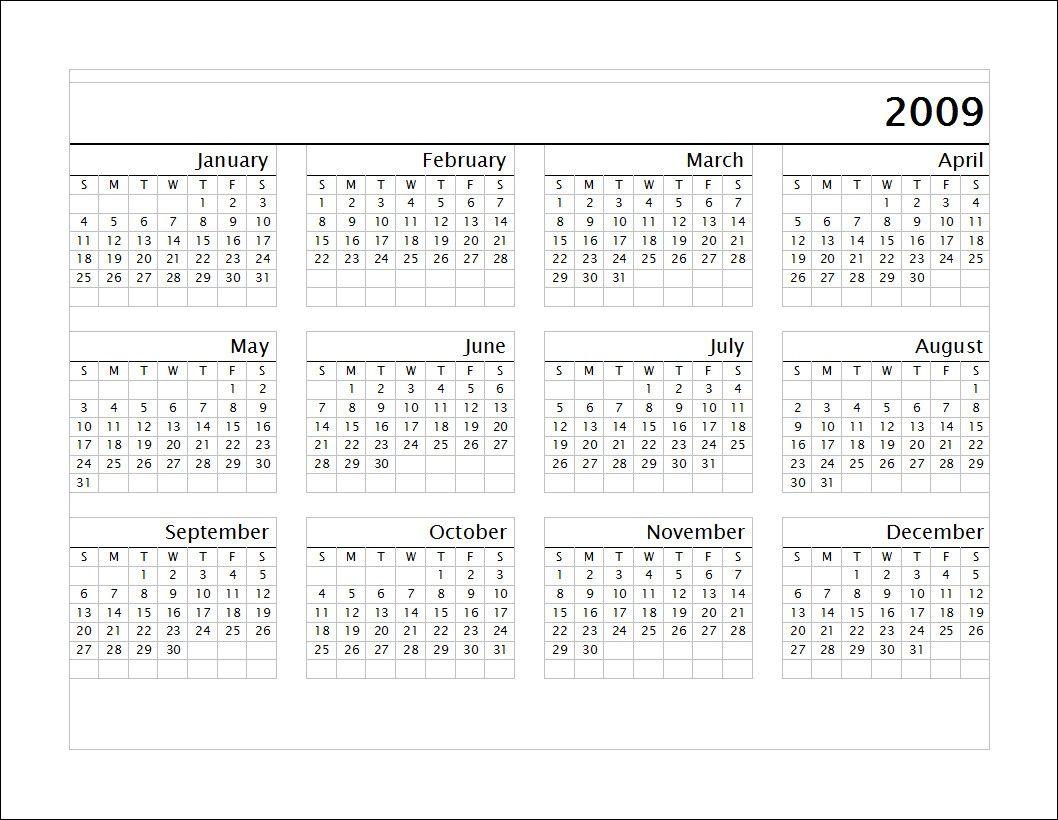 May Calendar 2009 Printable Calendar Printables