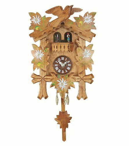 Black Forest Clock With Cuckoo Turning Dancers Incl Battery By Isdd Cuckoo Clocks Http Www Amazon Com Dp B003crksyg Ref C Forest Clock Clock Cuckoo Clock