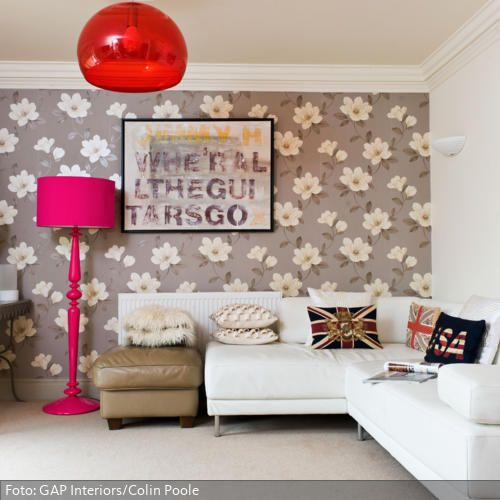 Farb- und Stilmix im Wohnzimmer - dekoideen wohnzimmer rot