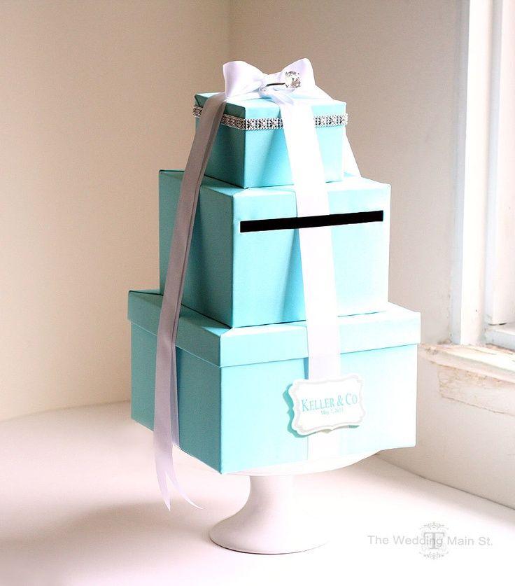 Wedding Card Box Tiffany Blue Theme Wish Card